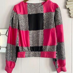 Vintage Lloyd Williams Pink Black Mixed Pattern